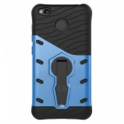 Protective Back Case w/ Holder for Xiaomi Redmi 4X - Black + Blue