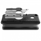 Protective Back Case w/ Holder for Xiaomi Redmi 4X - Black + Silver