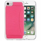TPU Hard Protective Case w/ Stand for IPHONE 6 / 6S - Deep Pink