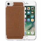 TPU Hard Protective Case w/ Stand for IPHONE 6 / 6S - Brown