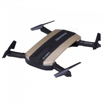JXD 523 Wi-Fi FPV Foldable Mini Drone RC Quadcopter w/ Camera - Golden