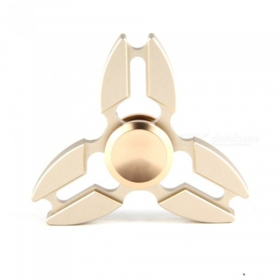 Metal Zinc Alloy Tri Fidget Hand Finger Spinner - Golden