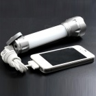 Ismartdigi ISC02 USB Rechargeable Light 3-Mode 9LED Flashlight -Silver