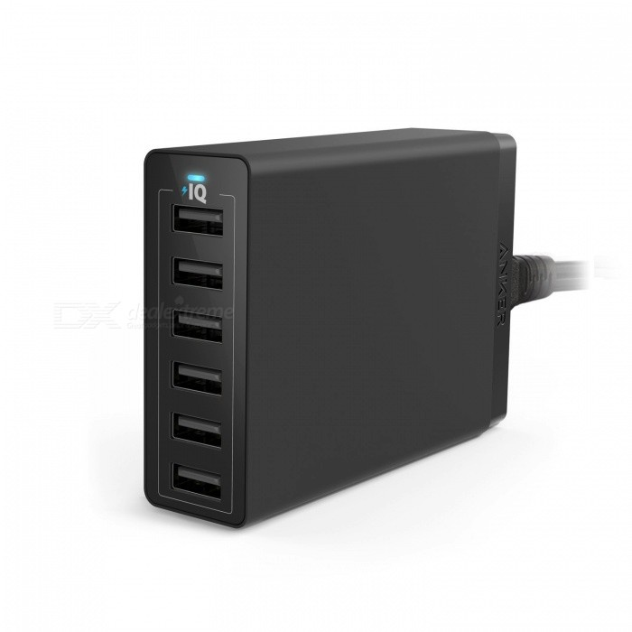 Anker PowerPort 6 60W 6-Port USB Charging Hub USB Charger - Black