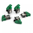 High Quality E Support Car Green LED Toggle Switches - Green (5Pcs)