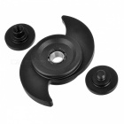 BLCR Typhoon Style EDC Finger Spinner for Autism & ADHD - Black (L)