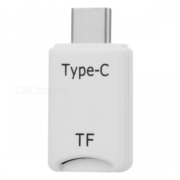 BSTUO Mini Type-C USB3.1 OTG TF Card Reader for Mobile Computer- White