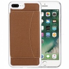 Stylish Back Case Cover for IPHONE 7 PLUS - Brown