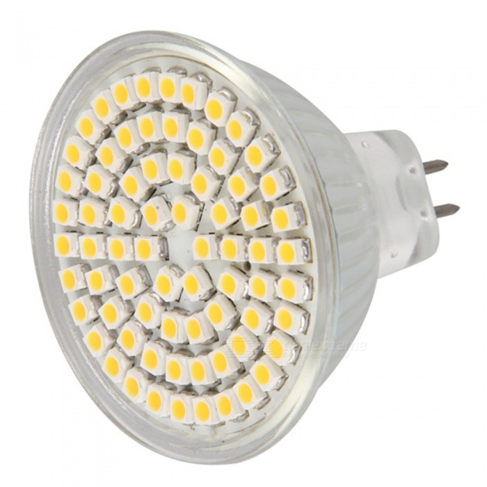 QooK MR16 GU5.3 Warm White 72 SMD LEDs Spot Light Lamp Bulb