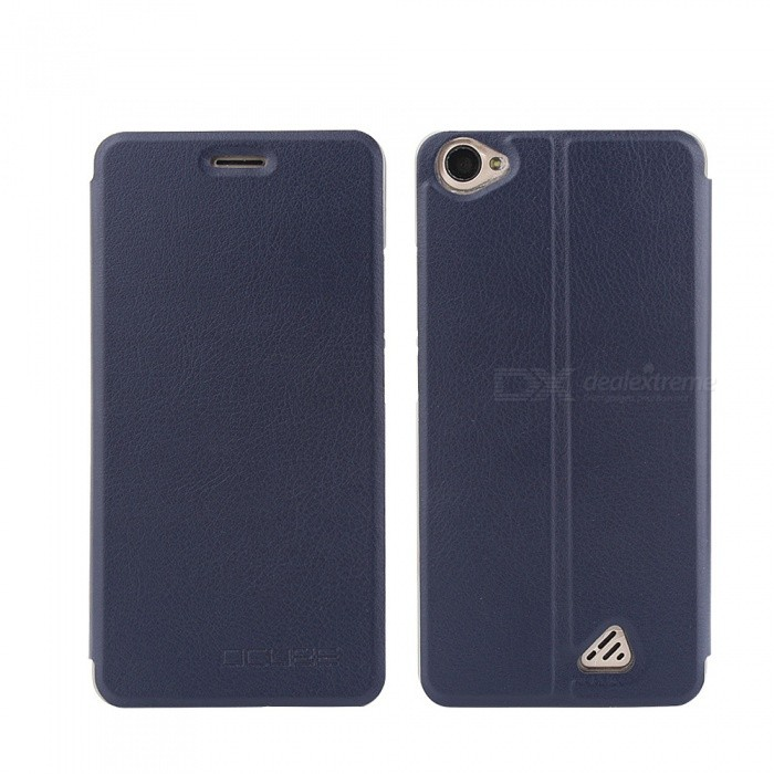 OCUBE PU Leather Flip-open Case for OUkitel C5 PRO - Deep Blue