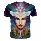 MB0117 3D Printing Beauty Head Pattern T-shirt - Multicolor (XL)