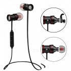 Wireless Bluetooth V4.1 Earphone w/ Magnetic Earbuds - Black