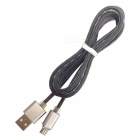 Micro USB / V8 Candy Line / Mobile Fast Charge Cable - Black (98cm)