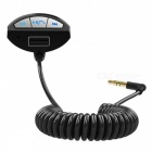 BC10 3.5mm AUX A2DP Bluetooth Handsfree USB Car Charger - Black