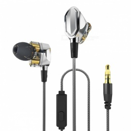 Bass Stereo Noise Cancelling In-Ear 3.5mm Wired Earphone for Sports