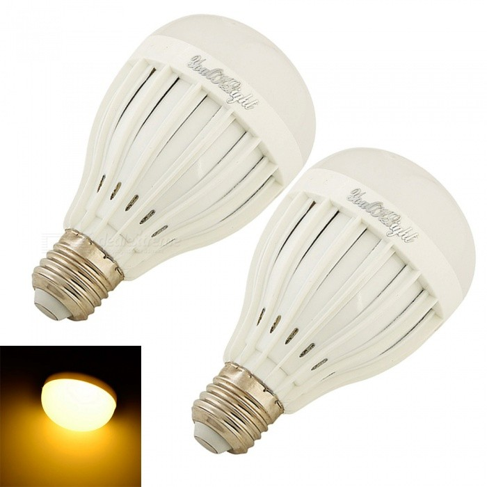 YouOKLight E27 7W 14-SMD5730 Warm White LED Bulb Lamps (85-265V 2PCS)