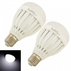 YouOKLight E27 7W 14-SMD 5730 Cold White LED Bulb Lamps (85-265V 2PCS)