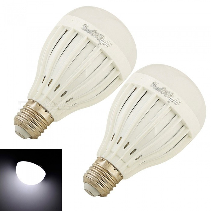 YouOKLight E27 9W 18-SMD 5730 Cold White LED Bulb Lamps (85-265V 2PCS)