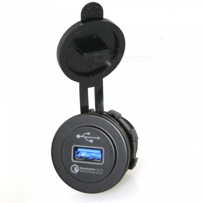 IZTOSS Quick Charge QC2.0 USB Socket for Car Motorcycle (12~24V)Other Gadgets<br>Form  ColorBlackModelC1388Quantity1 DX.PCM.Model.AttributeModel.UnitMaterialABSShade Of ColorBlackCurrent10 DX.PCM.Model.AttributeModel.UnitPower Supply12-24VPacking List1 x USB socket<br>