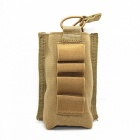 Outdoor multifunctional ammo clip storage bag - brownish yellow