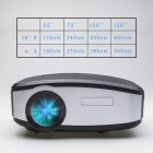 ANTFEE C6 720P 1080P 800x480 100lm Mini LED Projector, UK Plug - Black