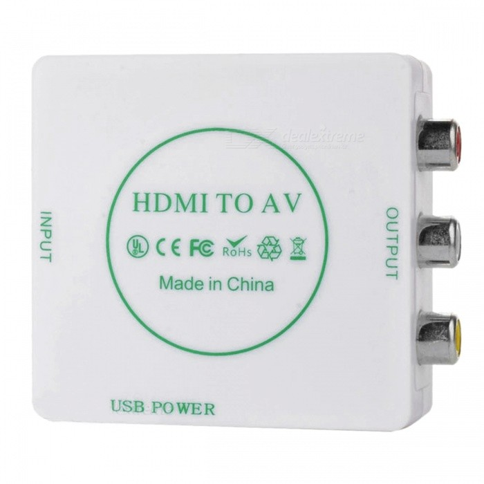 BSTUO Mini 480P HD HDMI zu AV CVBS Audio Converter Box Adapter