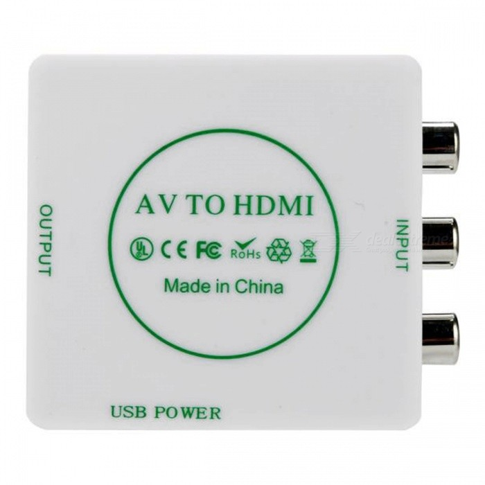 BSTUO AV to HDMI HD Video 720P Audio Converter Box Adapter - White