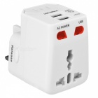 BSTUO Universal World Travel Charger w/ Dual 1A USB Ports - White