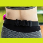 "90SMART Water-resistant Sports Waist Bag for 6"" Mobile Phone - Black"