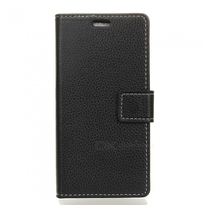 Dayspirit Lychee Grain Style PU Leather Case for SONY XA1 ULTRA -Black