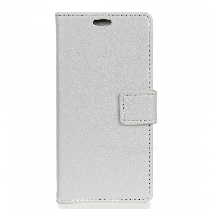 Dayspirit Lychee Grain Style PU Leather Case for SONY XA1 ULTRA -White