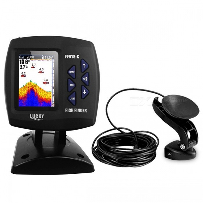 LUCKY FF918-C Dual Frequency 328ft/100m Wireless Fish Finder - Black