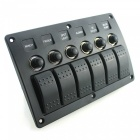 IZTOSS S1371 12~24V 6 Groups Lamp Switch Panel with Overload for Car