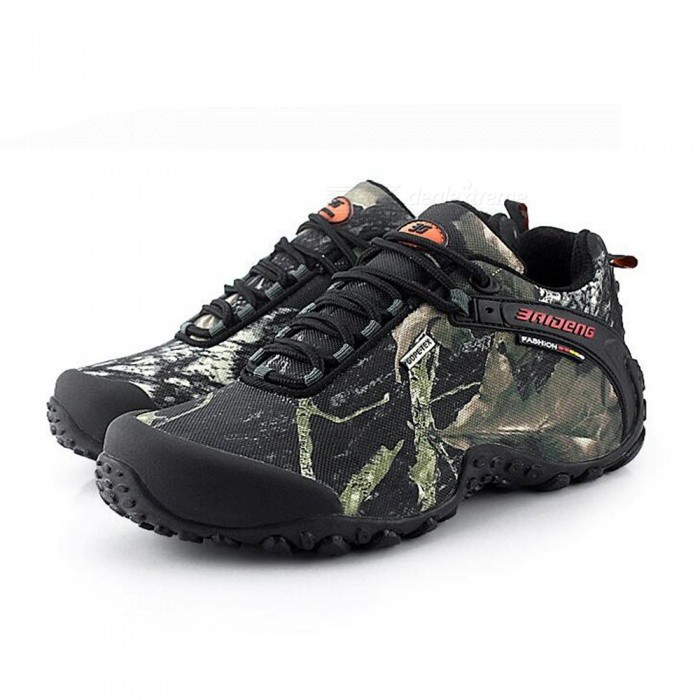 Waterproof Camouflage Maple Leaf Climbing Shoes - Grey (Size 43)
