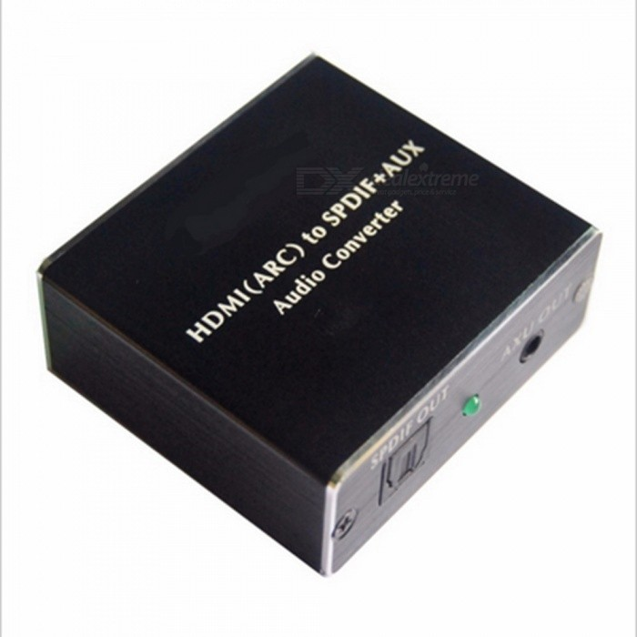 192KHz HDMI (ARC) to SPDIF + AUX Audio Converter - BlackAV Adapters And Converters<br>Form  ColorBlackMaterialAluminum alloyQuantity1 DX.PCM.Model.AttributeModel.UnitShade Of ColorBlackPacking List1 x HDMI(ARC) to SPDIF+AUX Audio converter1 x Audio Cable1 x Toslink Cable1 x USB Cable1 x Operation Manual<br>