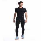Quick Dry Sports Fitness Running Cycling Suit for Men - Black (XL)