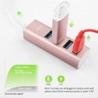 Omars USB Type C to 4-Port USB 3.0 Hub for USB Type-C Devices - Pink