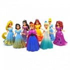 8 PCS / 1 Set Simulation Princess Doll Model Firgure for Home Office Decoration, Gift for Friends