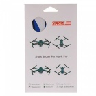 Shark Decoration Waterproof Decal Sticker for DJI Mavic Pro - Blue