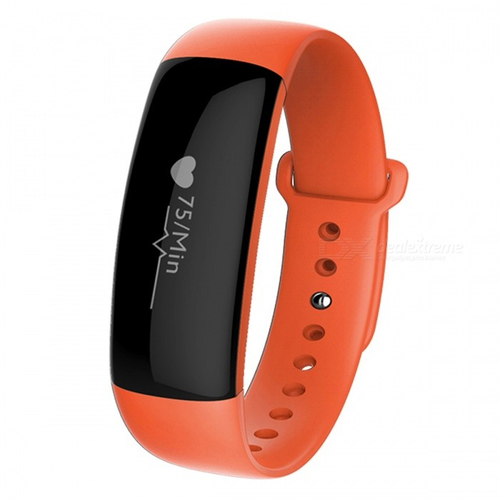 M88 Fitness Bluetooth V4.0 Smart Wristband Bracelet - Orange + Black