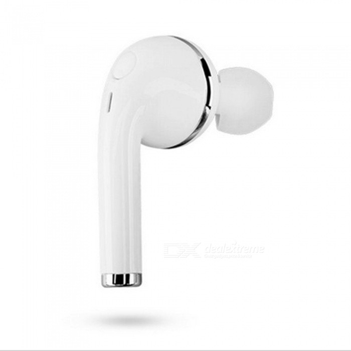 Wireless Bluetooth 4.1 Stereo Music Cordless Earpiece Earphone - WhiteHeadphones<br>Form  ColorWhiteBrandOthers,N/AMaterialABSQuantity1 DX.PCM.Model.AttributeModel.UnitConnectionBluetoothBluetooth VersionBluetooth V4.1Operating Range10MConnects Two Phones SimultaneouslyYesHeadphone StyleUnilateral,In-EarWaterproof LevelIPX0 (Not Protected)Applicable ProductsUniversalHeadphone FeaturesWith Microphone,Lightweight,Portable,Invisible Style,For Sports &amp; ExerciseSupport Memory CardNoSupport Apt-XNoPacking List1 x Bluetooth Headset1 x USB charger cable1 x User guide<br>