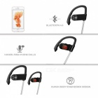 LE ZHONG DA CX-1 Smart Earhook Bluetooth Headset - Black + White