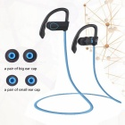 LE ZHONG DA CX-2 Smart Earhook Bluetooth Headset - Black + Blue