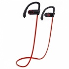 LE ZHONG DA CX-2 Smart Earhook Bluetooth Headset - Schwarz + Rot