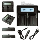 Ismartdigi D28S Batteri x 2 + LCD Dual Charger With Car Charge - Svart