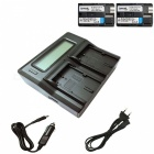 Ismartdigi BP511 Battery x2 + LCD Dual Charger with Car Charge - Black
