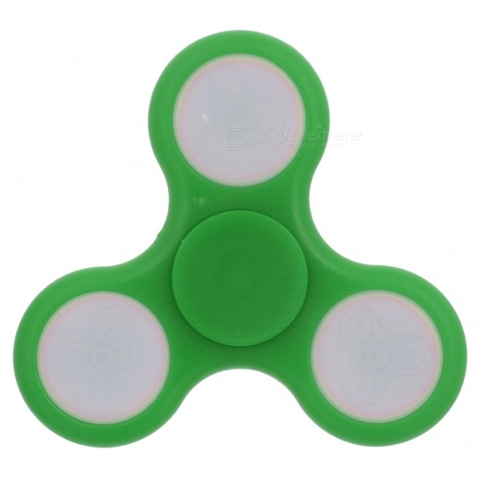 BLCR Tri-Spinner Fidget Toy EDC Hand Spinner w/ LED Light - GreenFinger Toys<br>Form  ColorGreenMaterialABSQuantity1 pieceSuitable Age 8-11 years,12-15 years,Grown upsPacking List1 x Fidget Spinner<br>