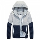 Outdoor Sports Thin Hooded Sun Protection Windbreaker Jacket- Gray (L)