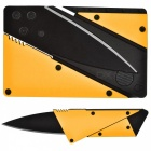Multi-Functional Outdoor Senaste Folding Card Knife - Yellow