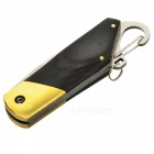 Outdoor Mini Key Chain Folding Knife - Black (Large Ebony Copper Head)